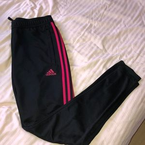 Adidas soccer style joggers size small
